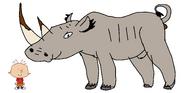 Stanley Griff meets White Rhinoceros