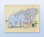 Noah's Ark Elephants and Frogs