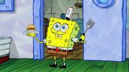 Spongebob love his job