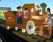 Toots the tender engine.
