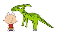 Stanley Griff meets Parasaurolophus
