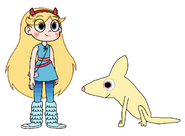 Star meets Fennec Fox