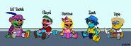 Baby Li Tooth, Baby Floyd, Baby Janice, Baby Zoot and Baby Lips