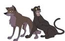 Balto and Bagheera