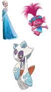 Princess Poppy, Elsa & Froslass