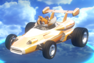 Tails transformed car