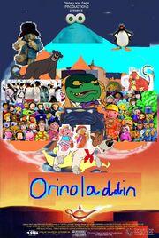 Disney and Sega's Orinoladdin Poster