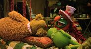 Kermit and Fozzie fall asleep in church