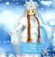 2020 Sandra Cure Clover - Ice Princess with veil
