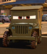 Sarge in Cars 2
