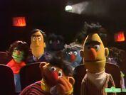 Ernie noticing a sad scene of the movie