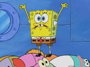 Spongebob sandy is in trouble