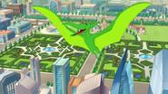 DC superhero girls Beast Boy as a Pteranodon
