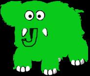 Gordon the elephant fr electric green by isaachelton-dd8abpw-1-