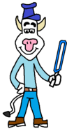 It's Anthony Cow (blue saber)