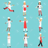 No-80122770-chief-cooks-and-bakers-at-work-set-professional-kitchen-staff-illustrations