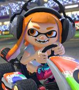 Inkling Girl in Mario Kart 8