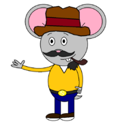 Mr. Einstein Hamster (Yancy O'Del) (pipe)