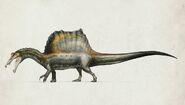 Spinosaurus quadruped by prophetickaiju-d8vl4um