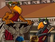 Eagle and black bird in hugo lek och lar 3 den magiska berg och dalbanan