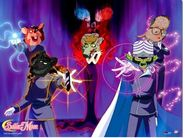 Sailor gadget queen mouse and her army dark kingdom