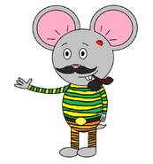 Mr Einstein Hamster (pipe) (pyjamas)