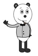 Panda 'Pandy' Smoochie (tuxedo suit) (pipe)