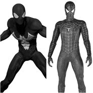 Symbiote Spider-Man as Webbed Symbiote Suit