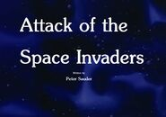 Attack of the Space Invaders Title Card