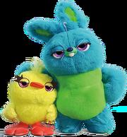 Ducky and bunny retina