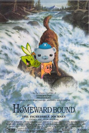Homeward Bound The Incredible Journey (Disney and Sega Version) Poster