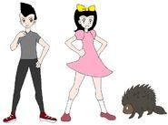 Riley and Elycia meets North American Porcupine