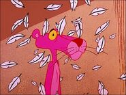 Depressed pink panther with feathers fluttering 4