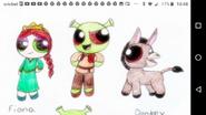 Shrek, Fiona and Donkey PPG style