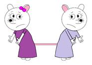 Marie and Priscillia Pollyanna (pajamas)