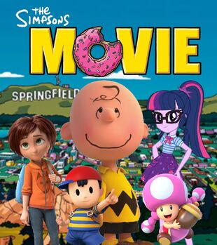 The Simpsons Movie (CharlieBrownandSci-TwiFans 2007; Movie Poster)