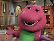 Barney sings I Love You by himself to the viewers
