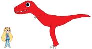 Star meets Tyrannosaurus