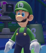 Luigi in Mario and Sonic at the Rio 2016 Olympic Games