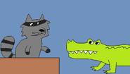 Raccoon and Crocodile