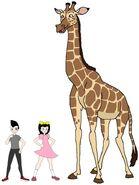 Riley and Elycia meets Masai Giraffe