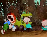 The Rugrats hear a strange noise and fret over it