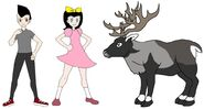 Riley and Elycia meets Finnish Forest Reindeer