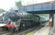 Steam locomotive - 73096 - at Virginia Water station - 280404