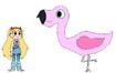 Star meets Chilean Flamingo