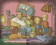 The simpsons anime characters