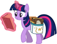 Twilight sparkle reading on the go by drfatalchunk-d54yjwv