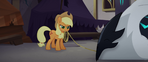 Applejack incapacitates a Storm Guard MLPTM