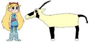 Star meets Arabian Oryx