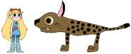 Star meets Iberian Lynx